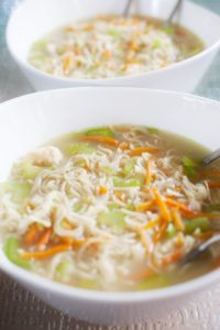 Quick and Easy Gluten free Ramen. Find the recipe at gossamerydreams.com.