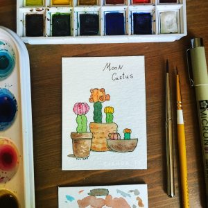 Moon Cactus by Ciarra Stebbins (@Ciarra_13). Find more at Gossamerydreams.com
