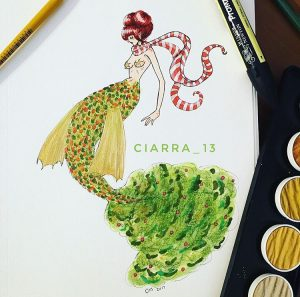 Christmas Tree Mermaid, by Ciarra Stebbins (@Ciarra_13). Find more at gossamerydreams.com