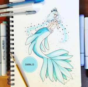 Snowflake Mermaid, by Ciarra Stebbins (@Ciarra_13). Find more at gossamerydreams.com