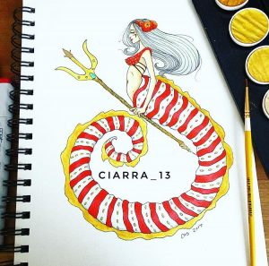 Candy Cane Mermaid, by Ciarra Stebbins (@Ciarra_13). Find more at gossamerydreams.com
