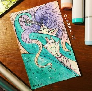 Narwhal Mermaid by Ciarra Stebbins, now available on Redbubble. Find more at gossamerydreams.com.