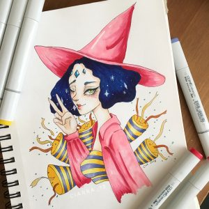 Pink Witch by Ciarra Stebbins. Find more at gossamerydreams.com.