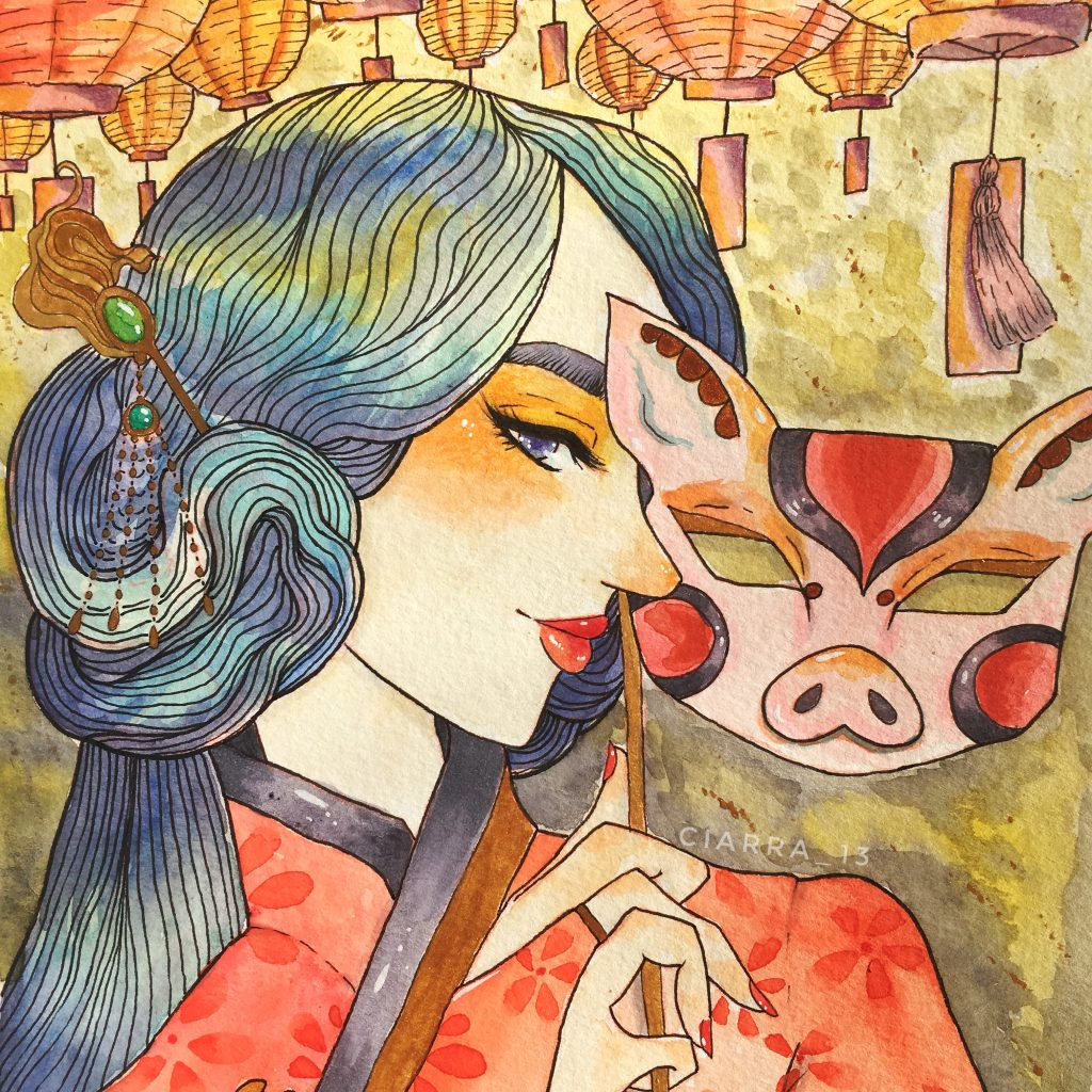 Year of the Pig! by Ciarra Stebbins (@ciarra_13). Find more at gossamerydreams.com