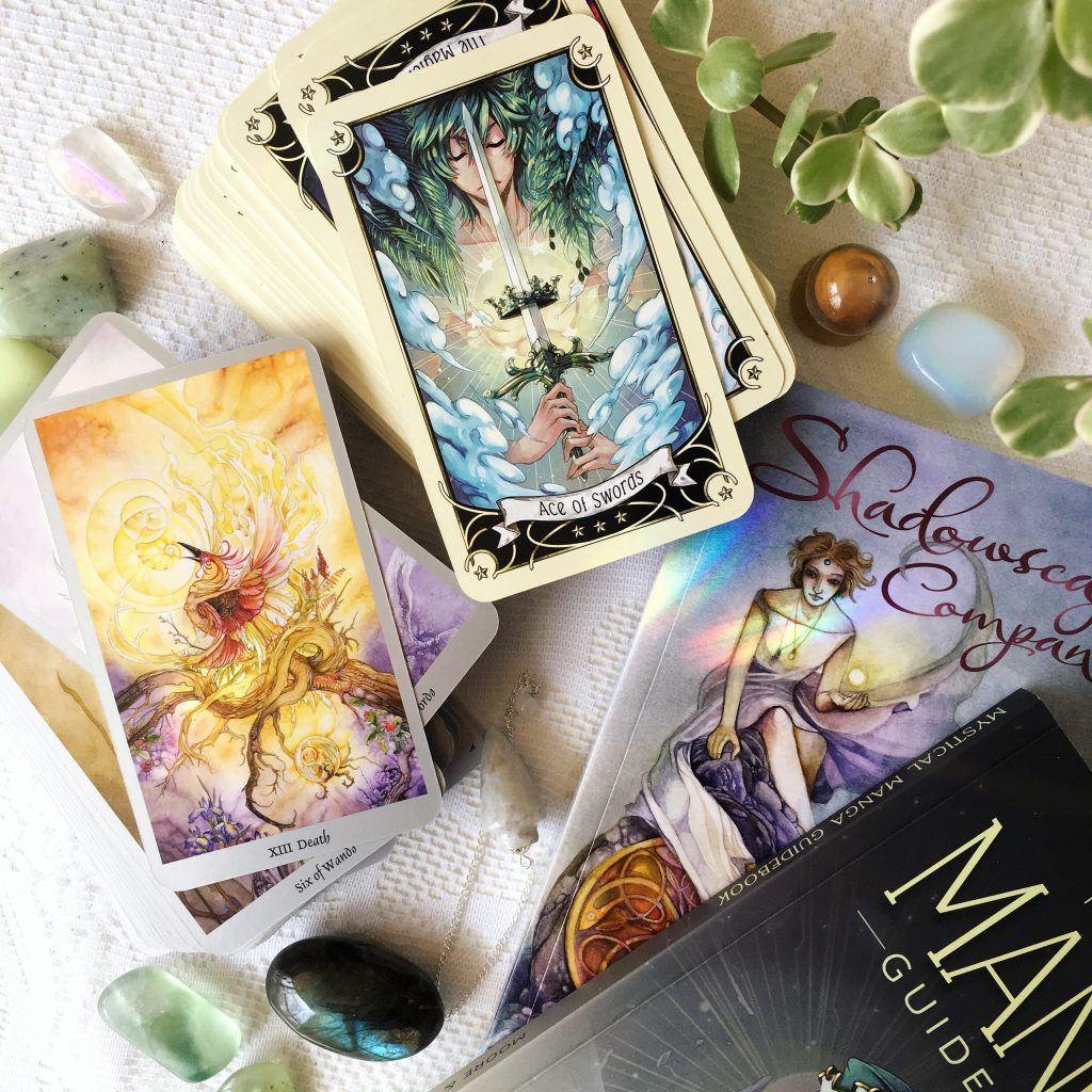 Shadowscapes + Mystical Manga tarot, find out more at gossamerydreams.com